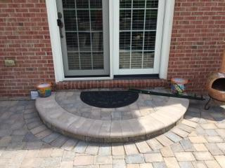 Stone Patio Door Entry