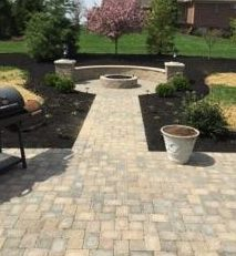 Stone Patio Hardscape