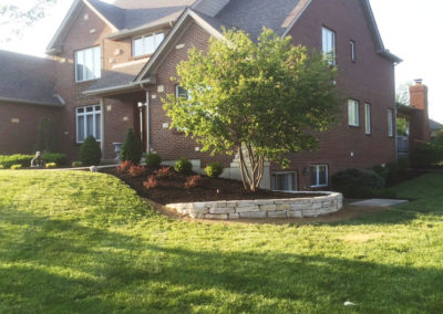 Cincinnati Landscape with Retaining Wall